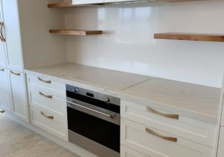 white stone kitchen benchtop