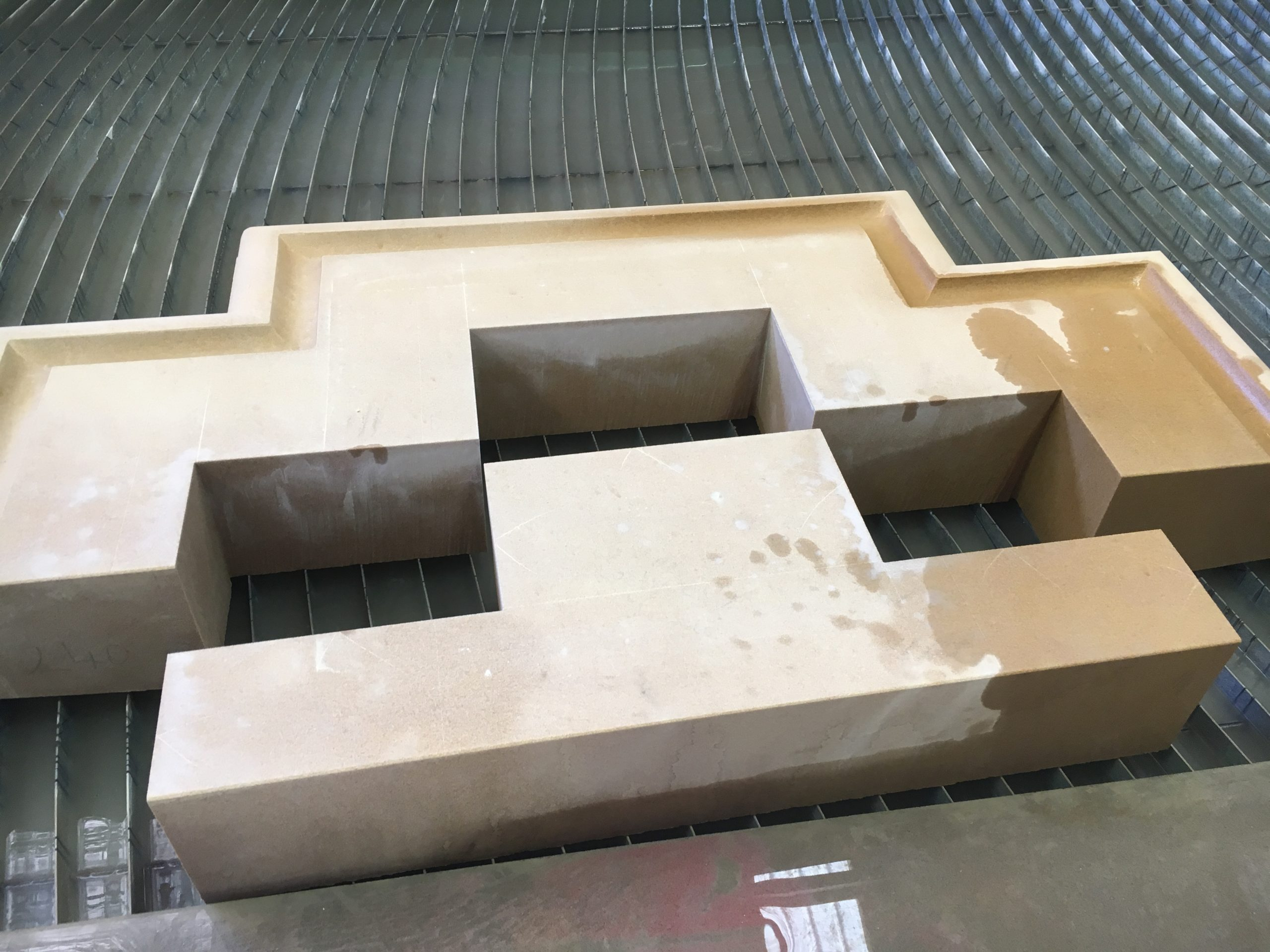 sandstone cutting result
