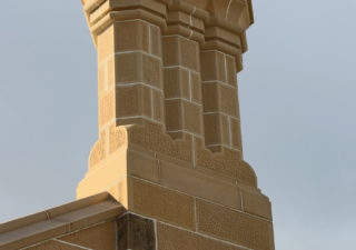 sandstone replacement chimney