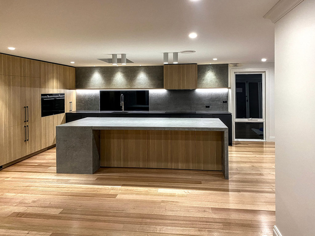 modern kitchen with stone surfaces